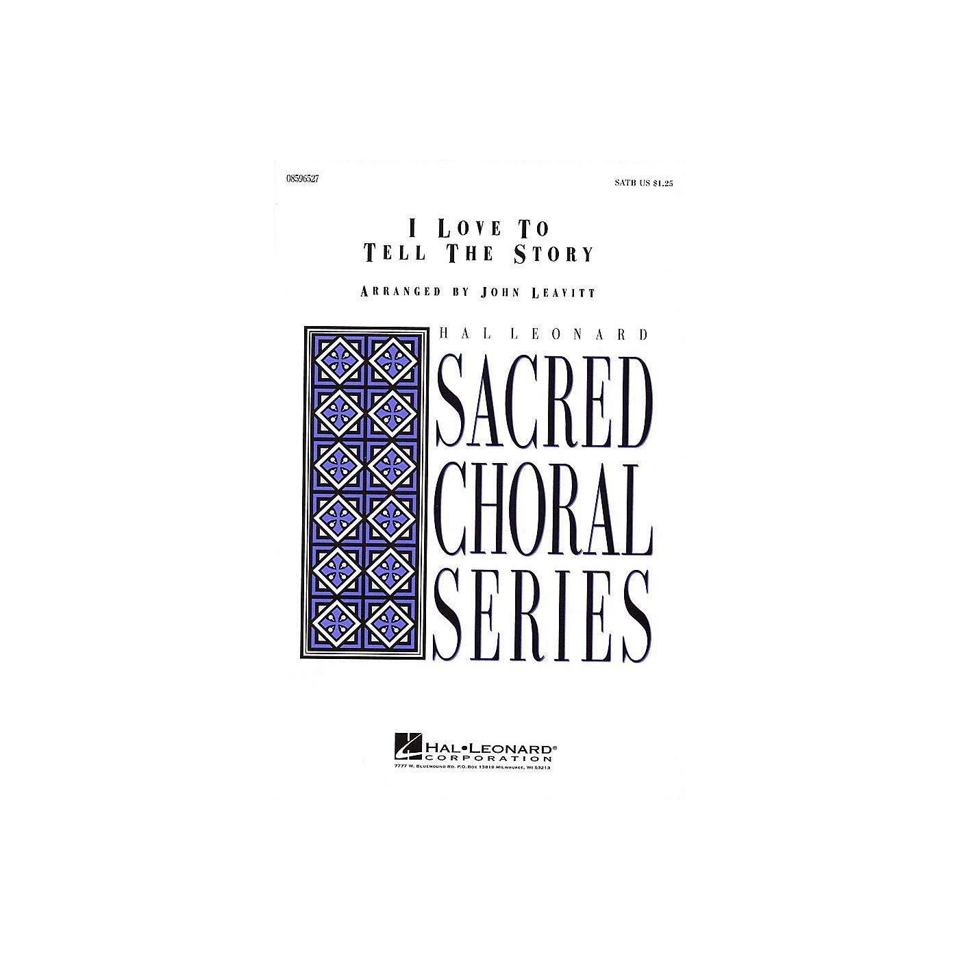 Hal Leonard I Love to Tell the Story SATB arranged by John Leavitt thumbnail