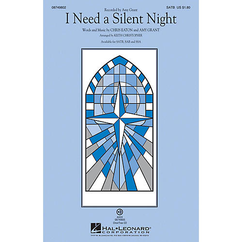 Hal Leonard I Need a Silent Night SAB by Amy Grant Arranged by Keith Christopher thumbnail