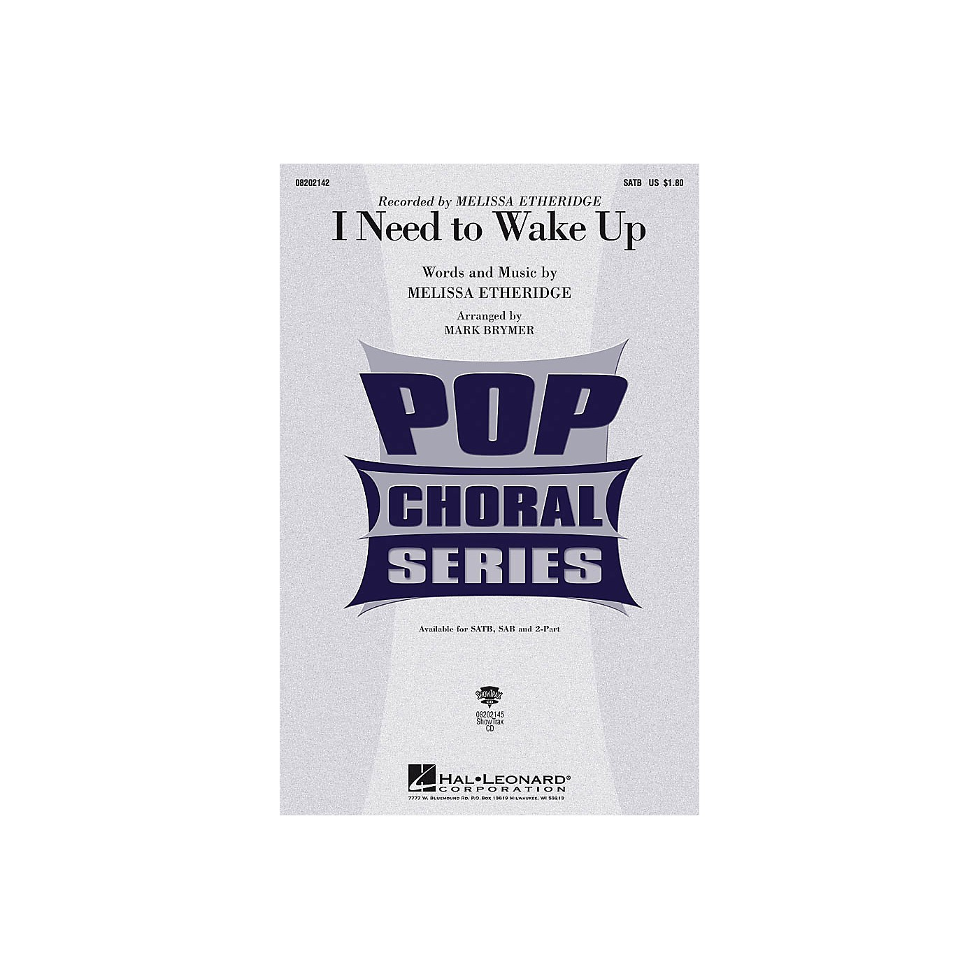 Hal Leonard I Need to Wake Up SAB by Melissa Etheridge Arranged by Mark Brymer thumbnail