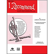 Alfred I Recommend Bass (Tuba)