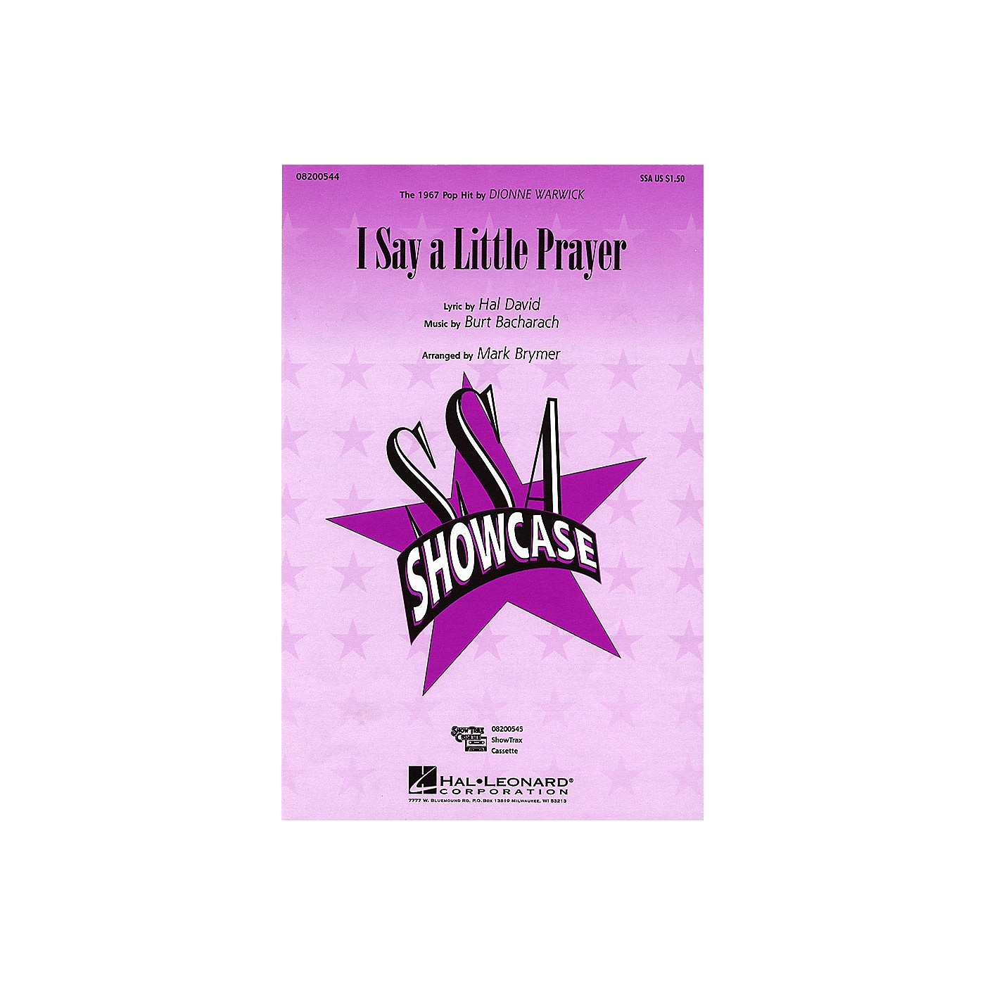 Hal Leonard I Say a Little Prayer SSA by Dionne Warwick arranged by Mark Brymer thumbnail