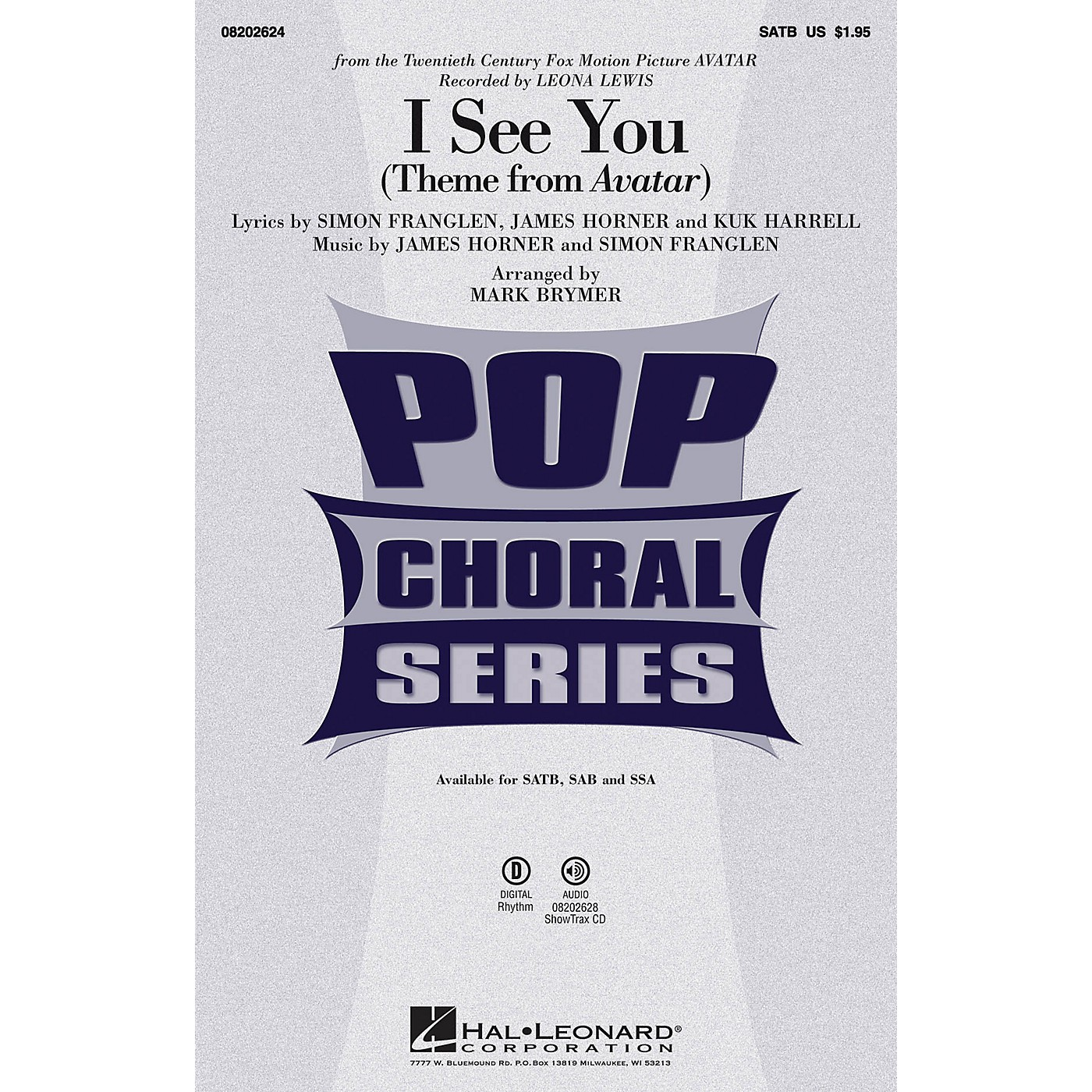 Hal Leonard I See You (from Avatar) SATB by Leona Lewis arranged by Mark Brymer thumbnail