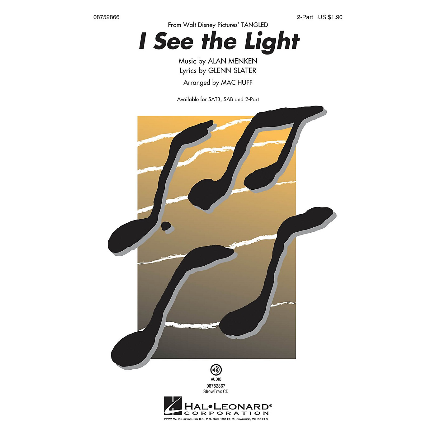 Hal Leonard I See the Light (from Walt Disney Pictures' Tangled) 2-Part arranged by Mac Huff thumbnail