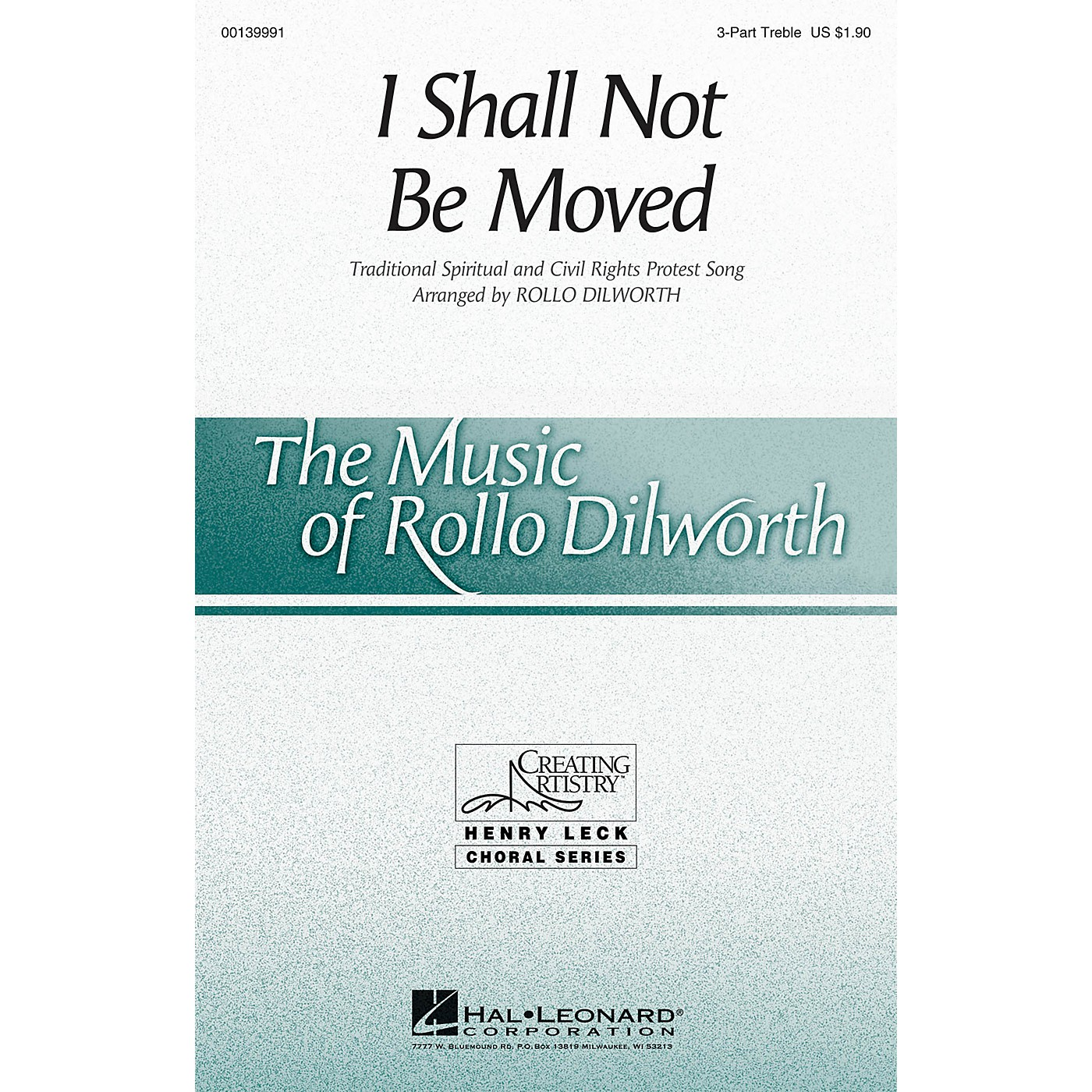 Hal Leonard I Shall Not Be Moved 3 Part Treble arranged by Rollo Dilworth thumbnail