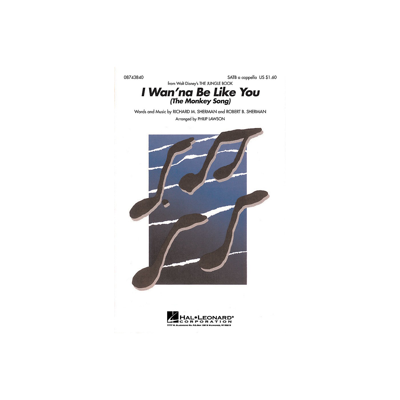Hal Leonard I Wanna Be Like You (from The Jungle Book) SATB a cappella arranged by Philip Lawson thumbnail
