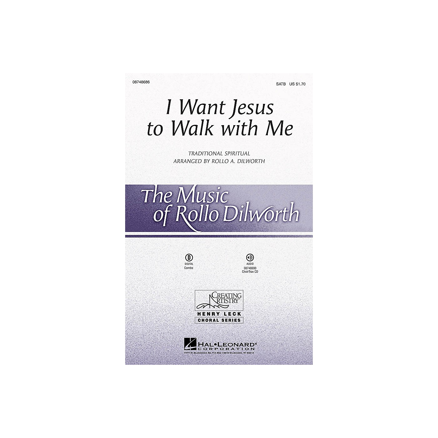 Hal Leonard I Want Jesus to Walk with Me SATB arranged by Rollo Dilworth thumbnail