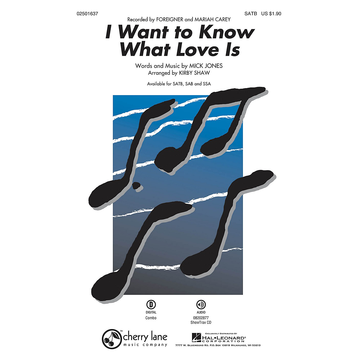 Cherry Lane I Want to Know What Love Is SATB by Foreigner arranged by Kirby Shaw thumbnail