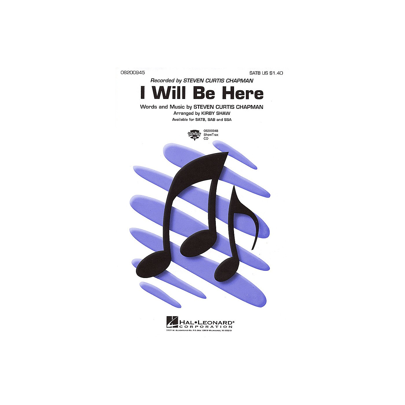 Hal Leonard I Will Be Here SATB by Steven Curtis Chapman arranged by Kirby Shaw thumbnail