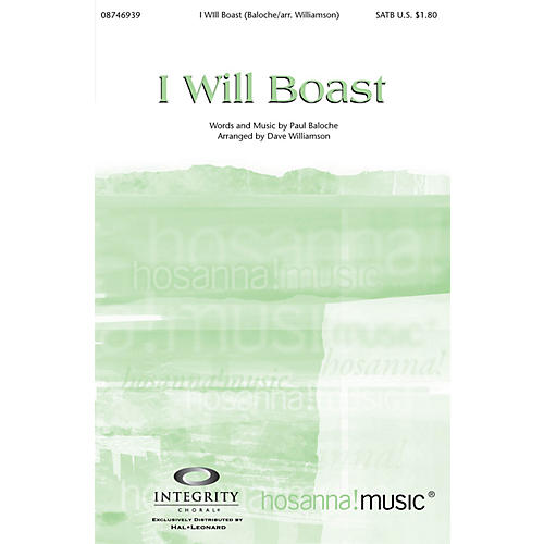 Integrity Music I Will Boast SPLIT TRAX by Paul Baloche Arranged by Dave Williamson thumbnail