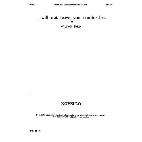 Novello I Will Not Leave You Comfortless SSATB Composed by William Byrd thumbnail