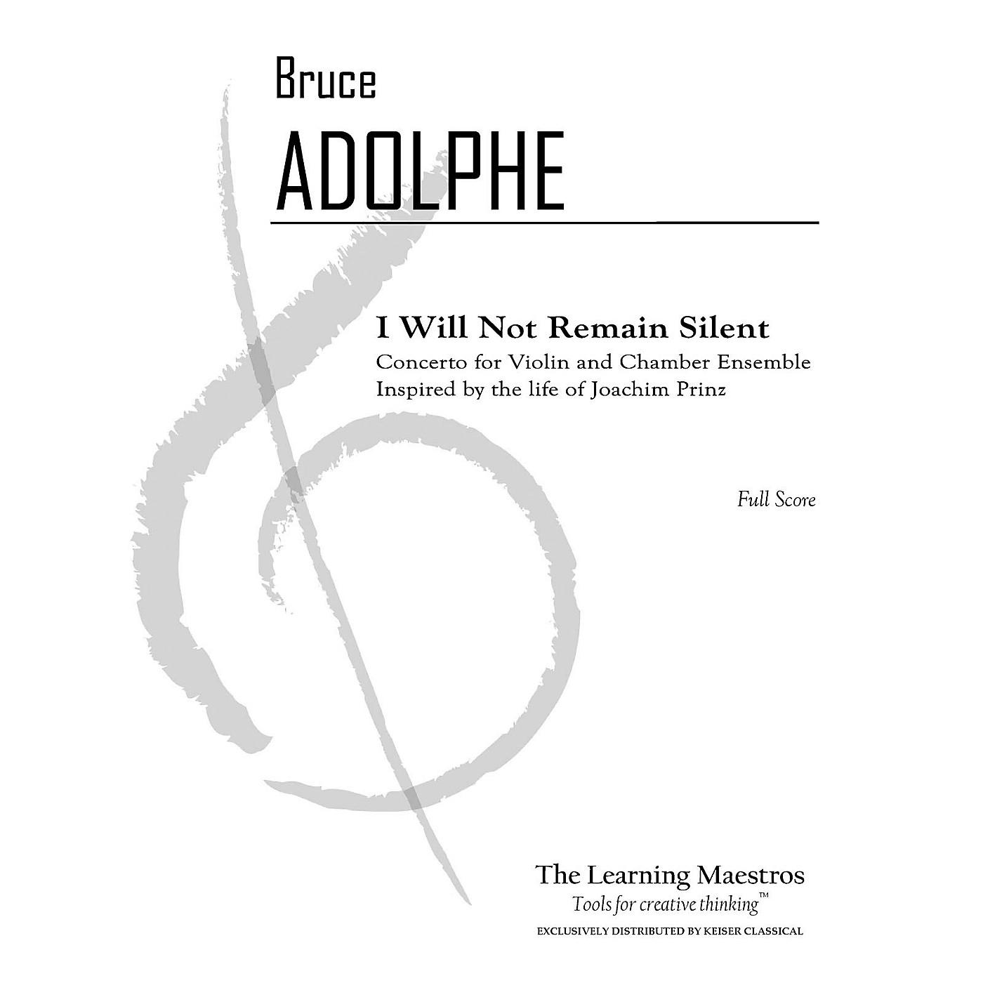 Lauren Keiser Music Publishing I Will Not Remain Silent: Conerto for Vn and Chamber Ensemble - Full Score LKM Music by Adolphe thumbnail