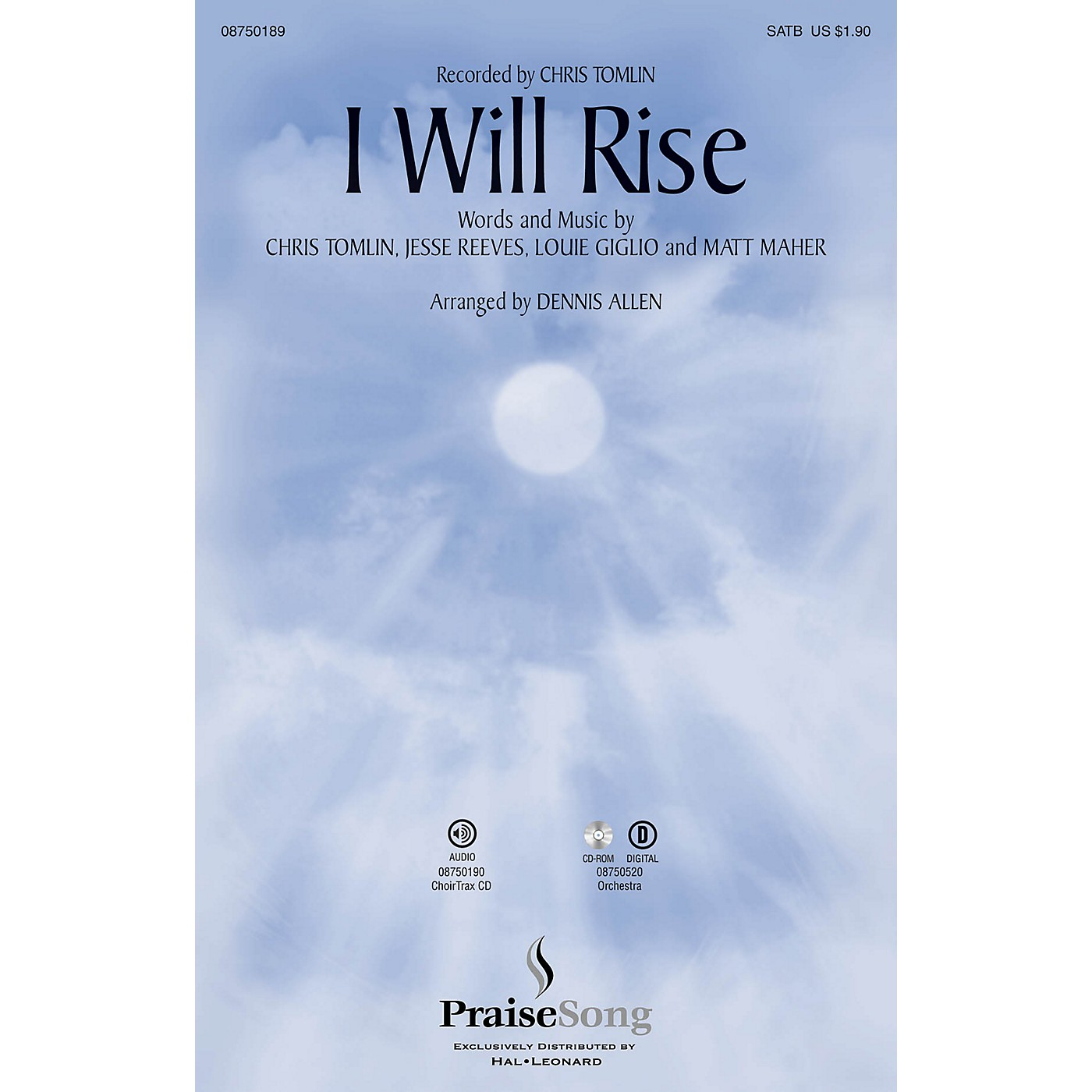 PraiseSong I Will Rise SATB by Chris Tomlin arranged by Dennis Allen thumbnail