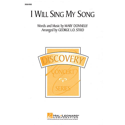 Hal Leonard I Will Sing My Song 2-Part arranged by George L.O. Strid thumbnail