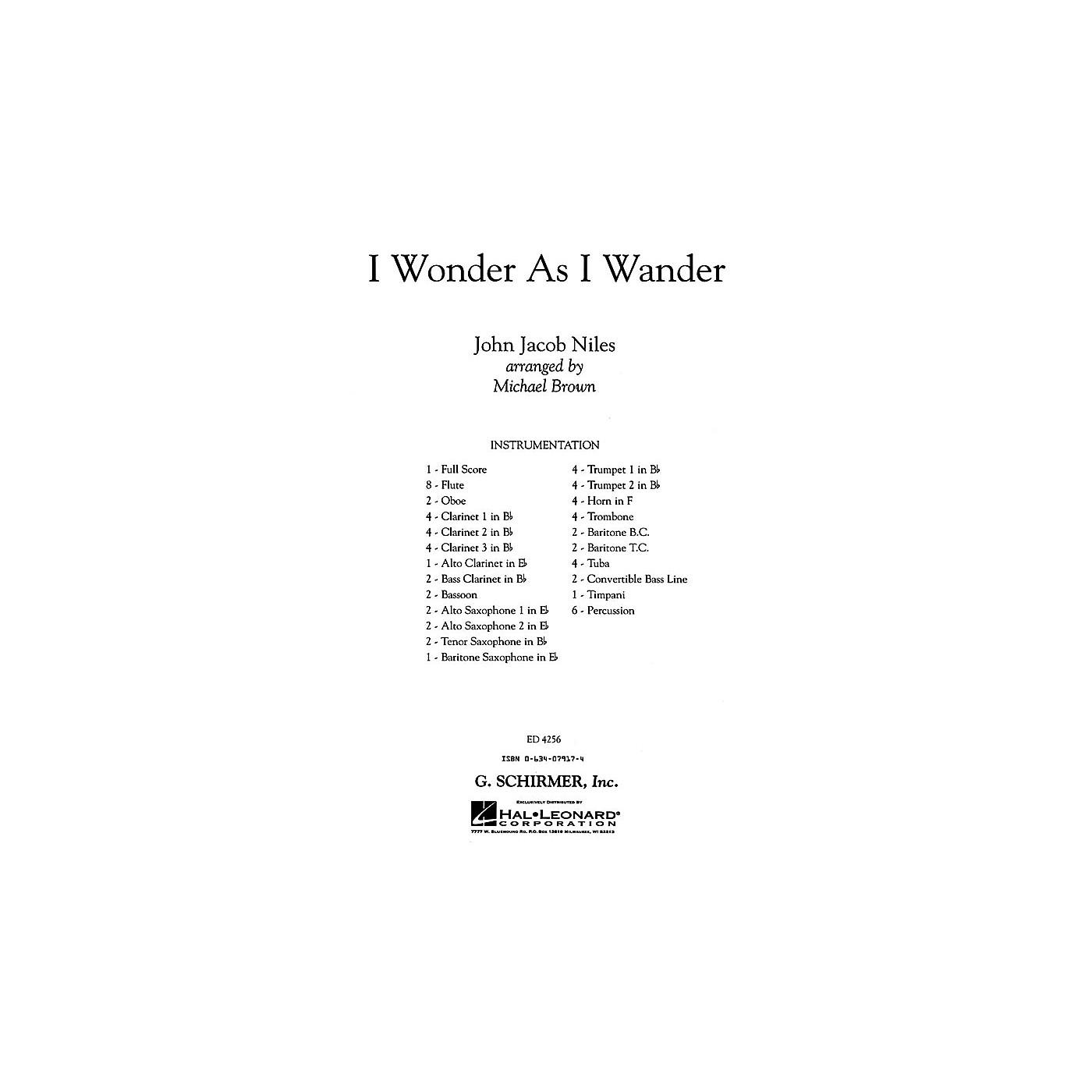 G. Schirmer I Wonder As I Wander (full Score) Concert Band thumbnail