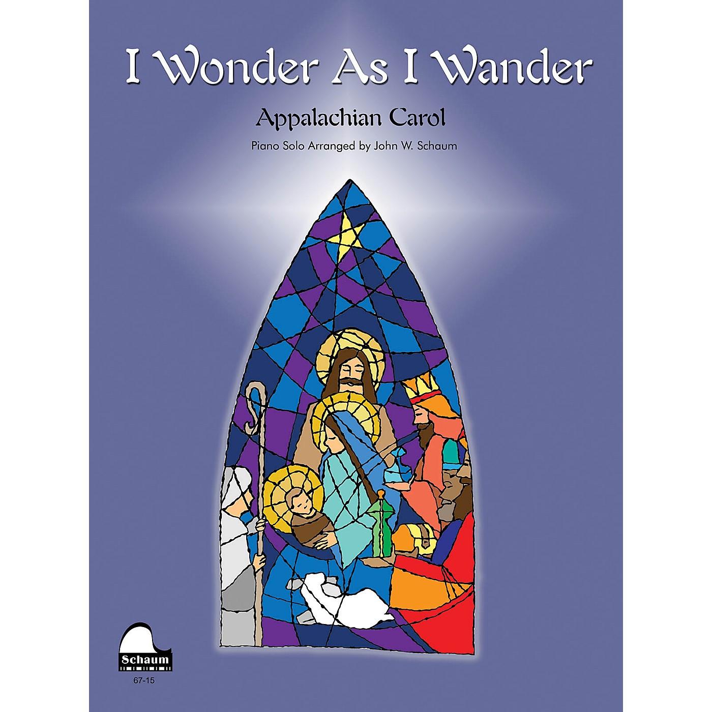SCHAUM I Wonder as I Wander Educational Piano Series Softcover thumbnail