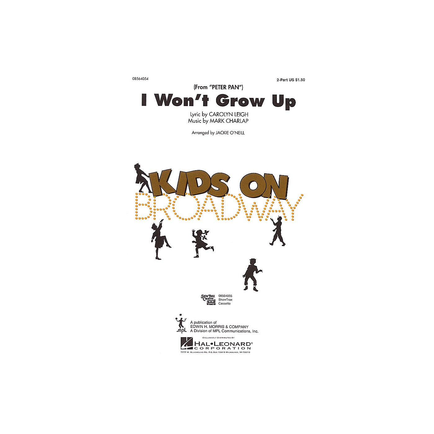 Hal Leonard I Won't Grow Up (from Peter Pan) 2-Part arranged by Jackie O'Neill thumbnail