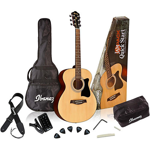 Ibanez IJVC50 Jampack Grand Concert Acoustic Guitar Pack thumbnail