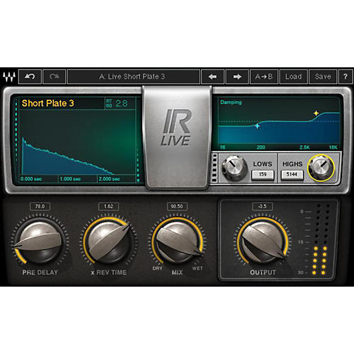 Waves IR-Live Convolution Reverb Native/TDM/SG Software Download thumbnail
