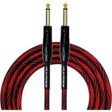 "KIRLIN IWB Black/Red Woven Instrument Cable 1/4"" Straight"