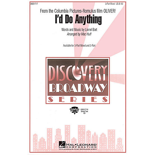 Hal Leonard I'd Do Anything (from Oliver) 2-Part Arranged by Mac Huff thumbnail