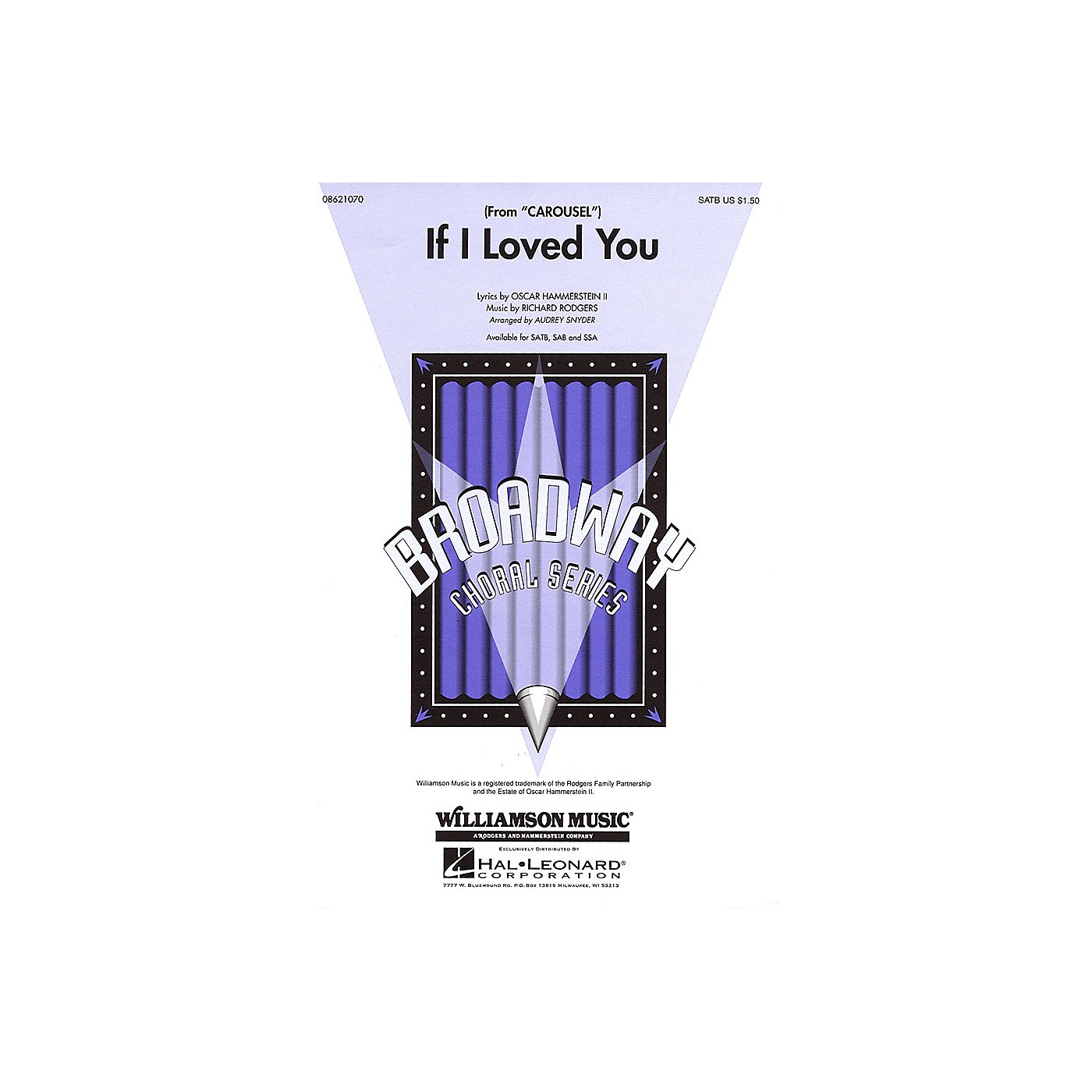 Hal Leonard If I Loved You (from Carousel) SATB arranged by Audrey Snyder thumbnail