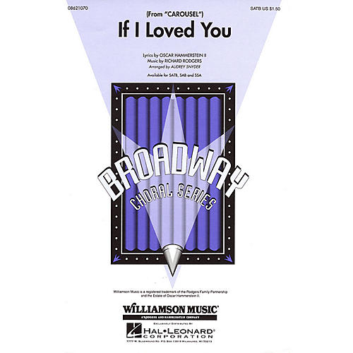 Hal Leonard If I Loved You (from Carousel) SSA Arranged by Audrey Snyder thumbnail