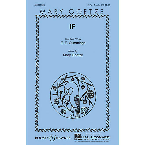 Boosey and Hawkes If (Mary Goetze Series) 2PT TREBLE composed by Mary Goetze thumbnail