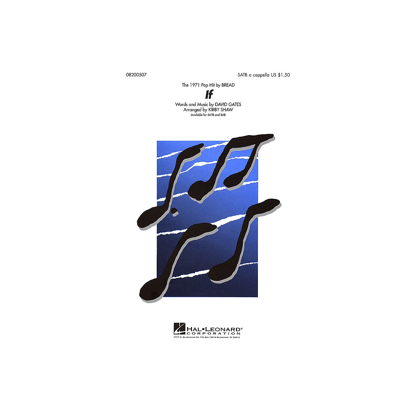 Hal Leonard If SATB a cappella by Bread arranged by Kirby Shaw thumbnail