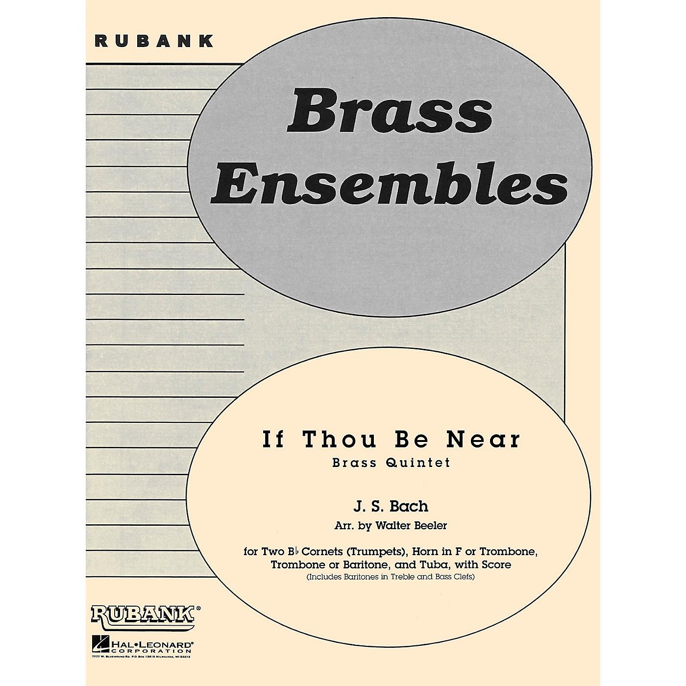 Rubank Publications If Thou Be Near (Bist du bei mir) (Brass Quintet - Grade 3) Rubank Solo/Ensemble Sheet Series thumbnail