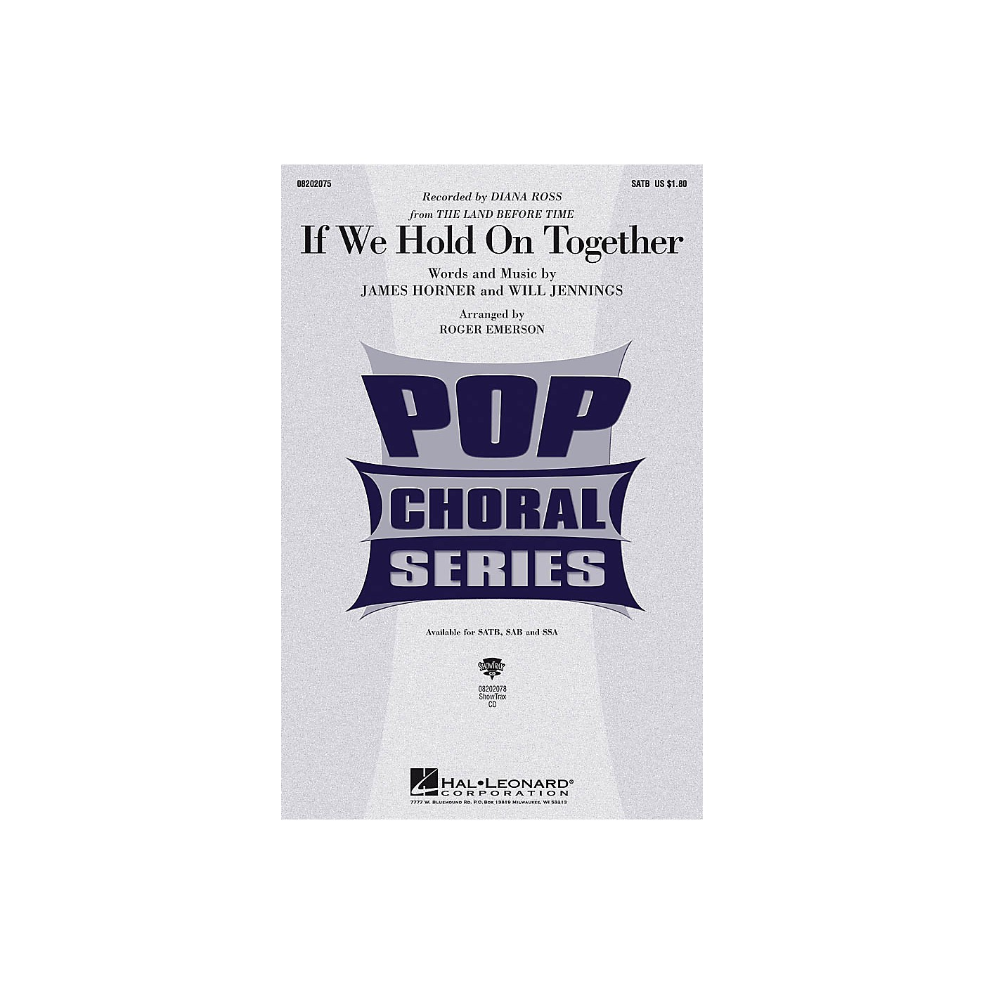 Hal Leonard If We Hold On Together SATB by Diana Ross arranged by Roger Emerson thumbnail