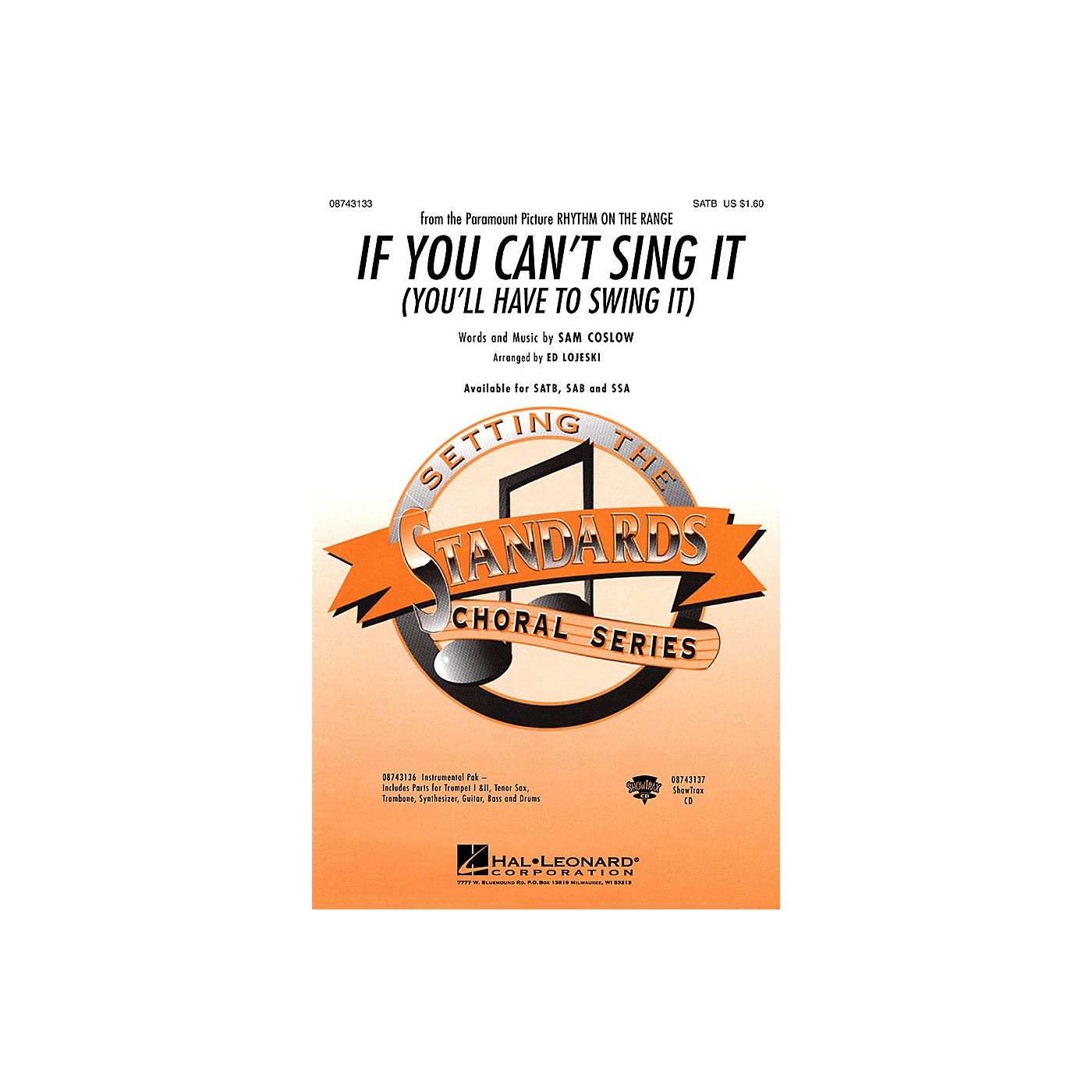 Hal Leonard If You Can't Sing It (You'll Have to Swing It) Combo Parts Arranged by Ed Lojeski thumbnail