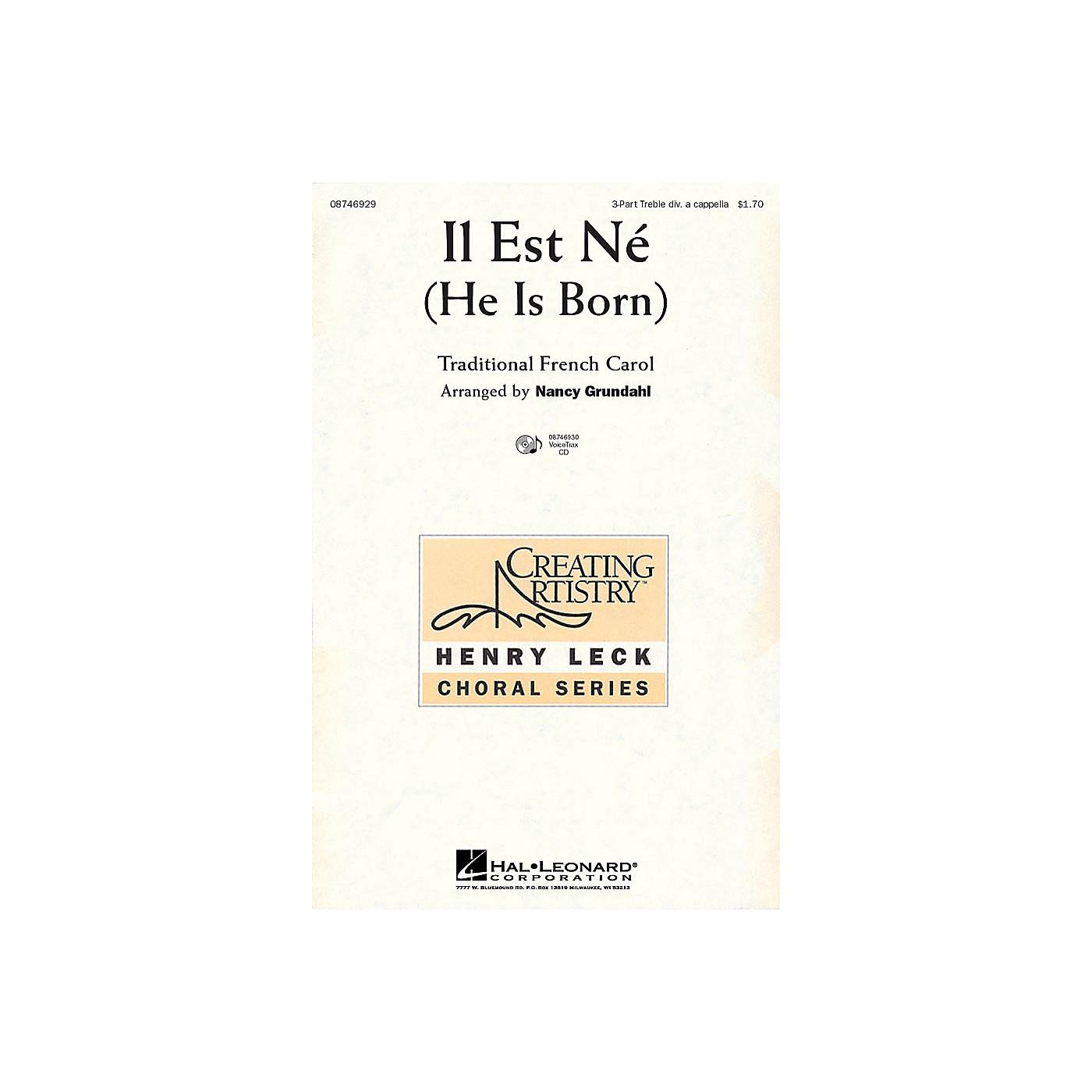 Hal Leonard Il Est Ne (He Is Born) VoiceTrax CD Arranged by Nancy Grundahl thumbnail