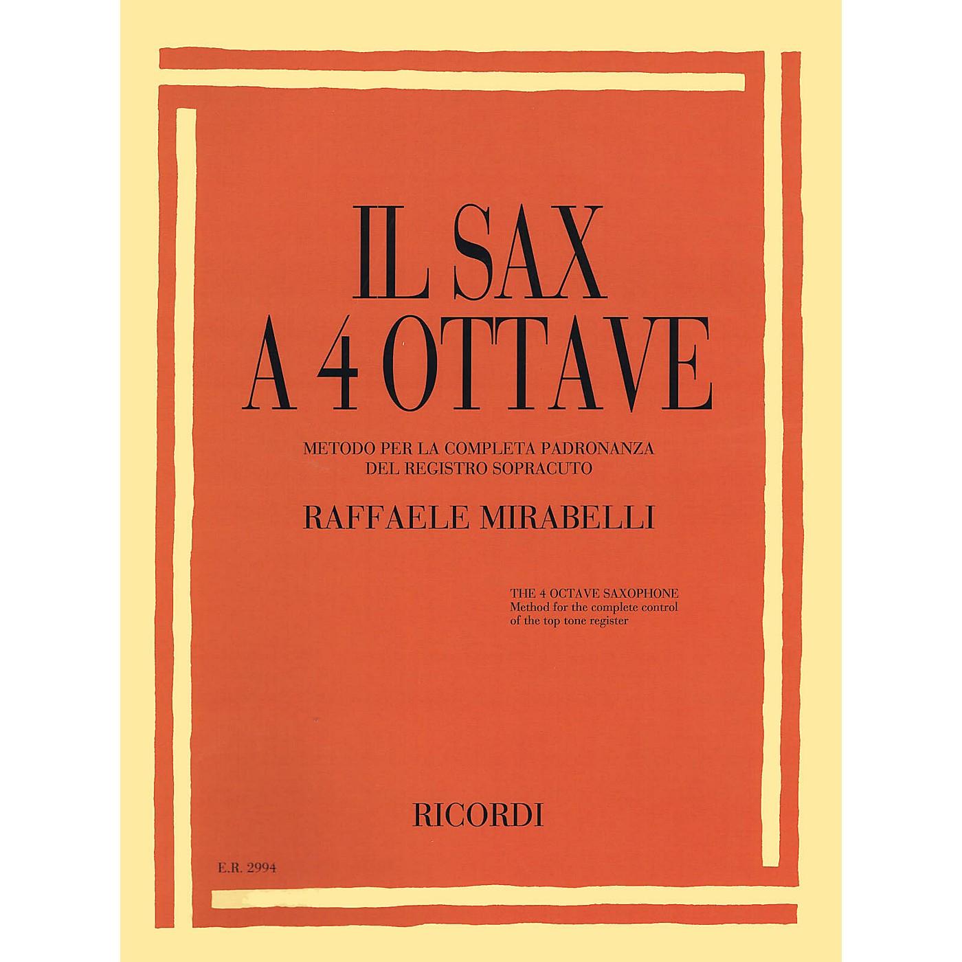 Ricordi Il Sax a 4 Ottave (The 4 Octave Sax) Woodwind Solo Series Book thumbnail