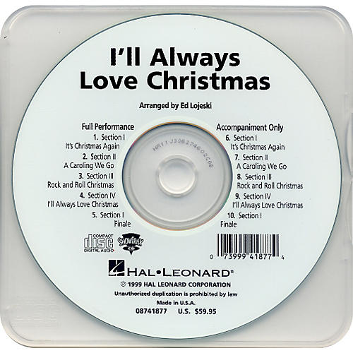 Hal Leonard I'll Always Love Christmas - Performance CD thumbnail