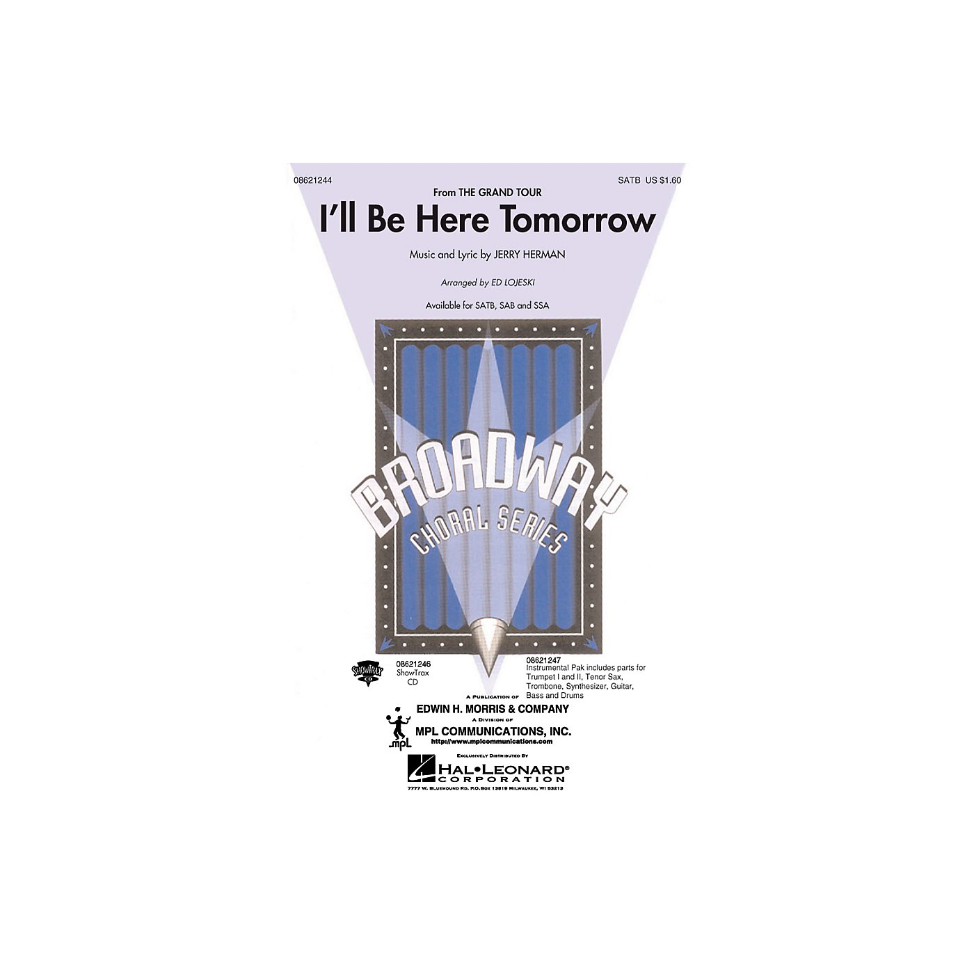 Hal Leonard I'll Be Here Tomorrow (from The Grand Tour) Combo Parts Arranged by Ed Lojeski thumbnail