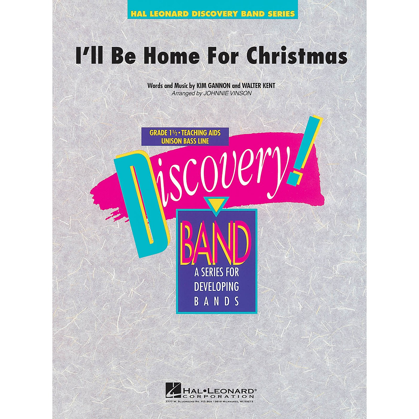 Hal Leonard I'll Be Home for Christmas Concert Band Level 1.5 Arranged by Johnnie Vinson thumbnail