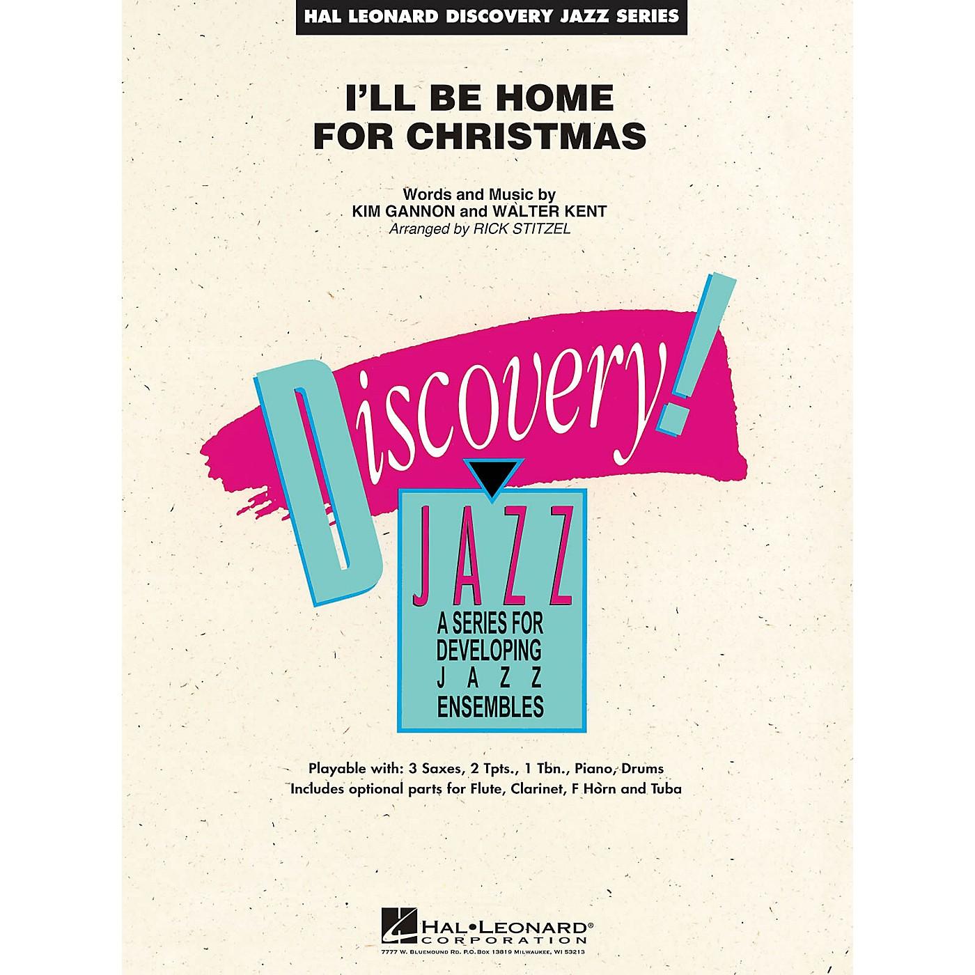 Hal Leonard I'll Be Home for Christmas Jazz Band Level 1.5 Arranged by Rick Stitzel thumbnail