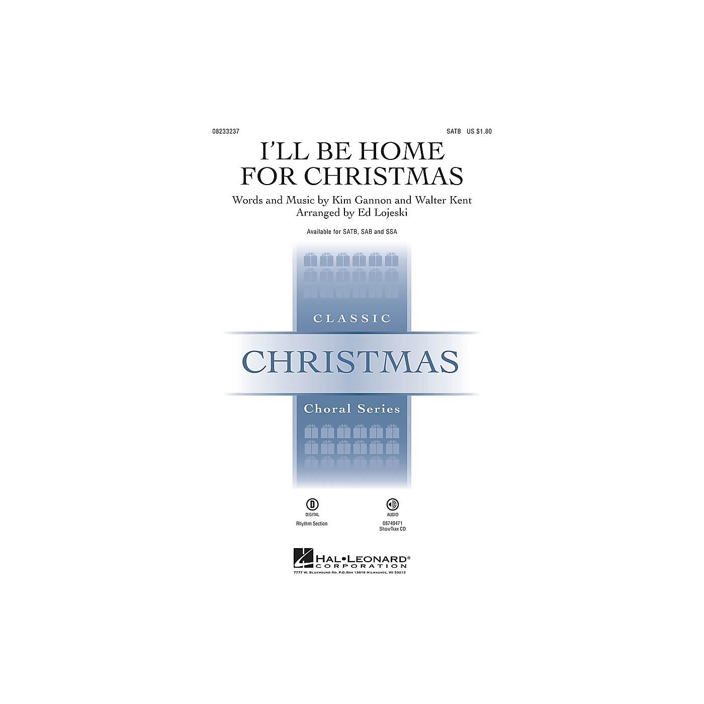 Hal Leonard I'll Be Home for Christmas ShowTrax CD Arranged by Ed Lojeski thumbnail