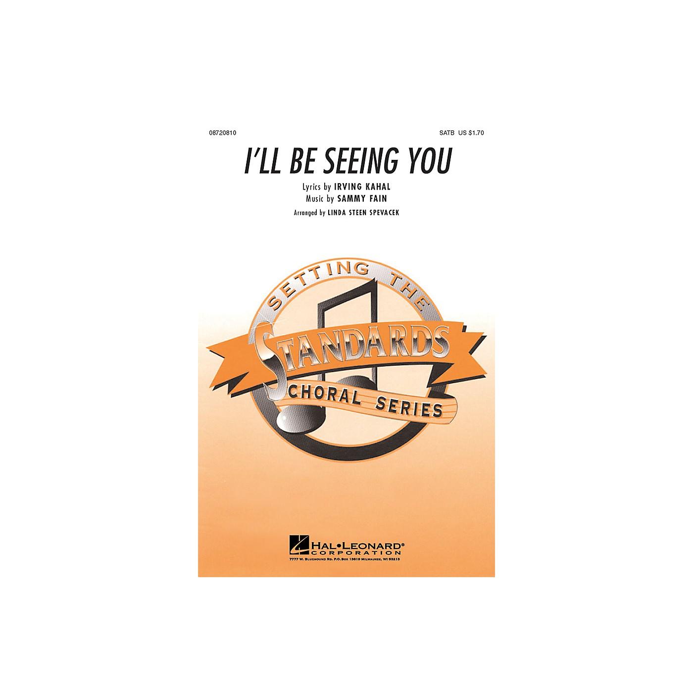 Hal Leonard I'll Be Seeing You SATB arranged by Linda Spevacek thumbnail