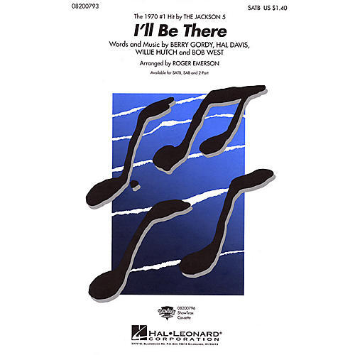 Hal Leonard I'll Be There 2-Part by The Jackson 5 Arranged by Roger Emerson thumbnail