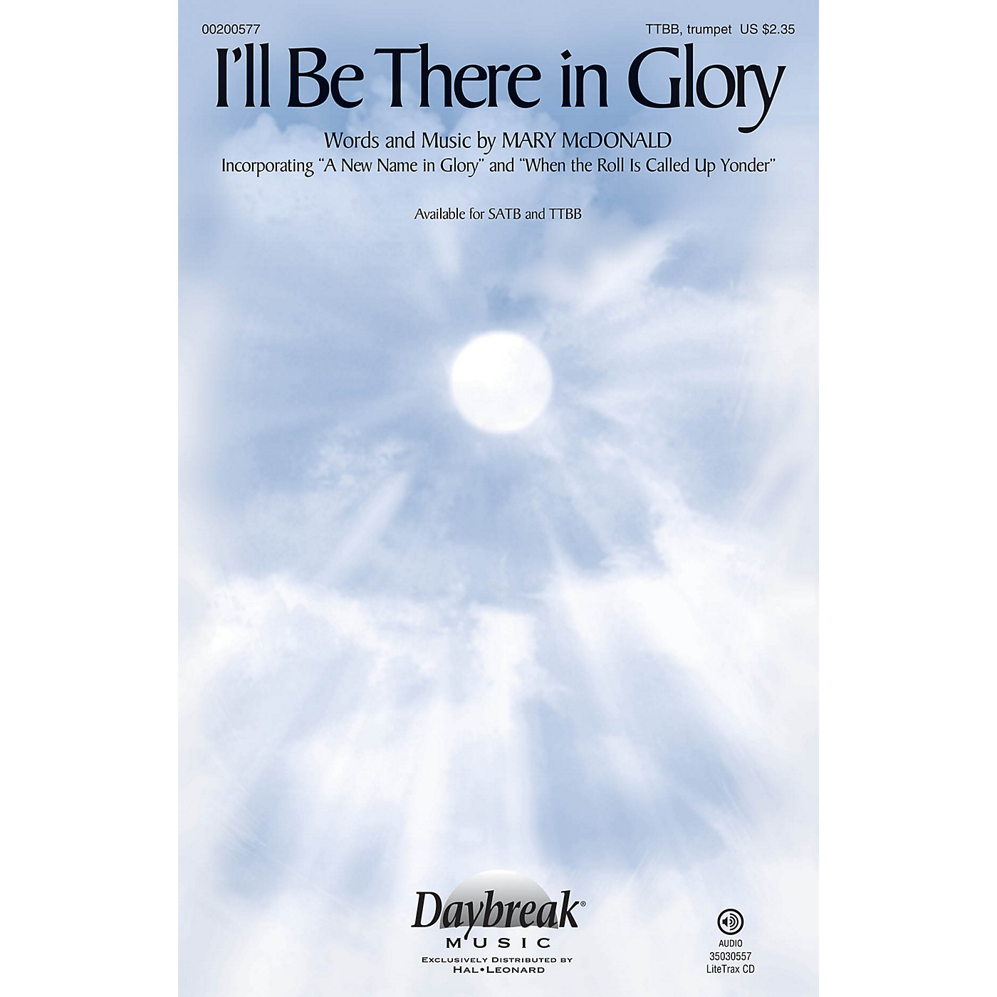 Daybreak Music I'll Be There in Glory TTBB/TRUMPET composed by Mary McDonald thumbnail