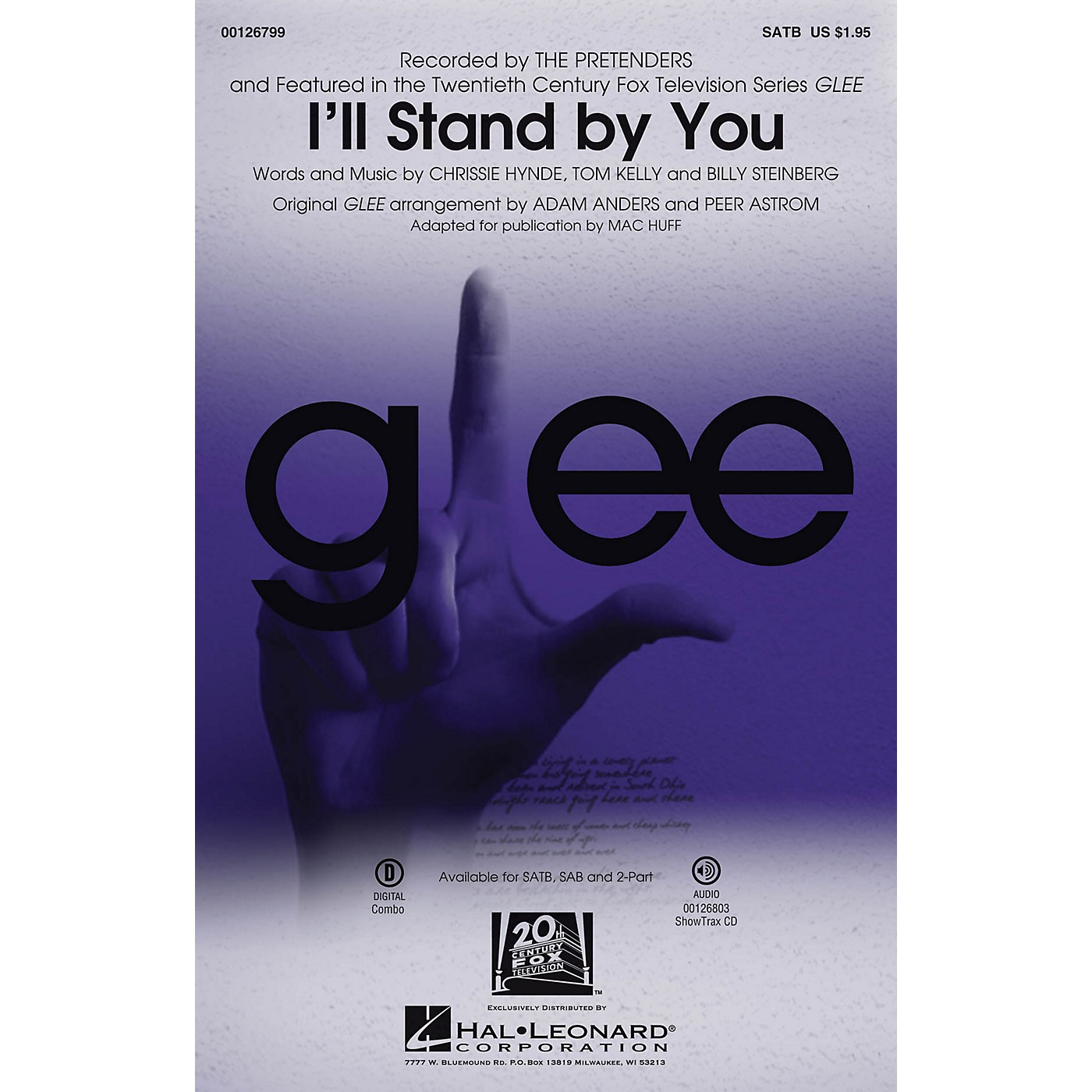Hal Leonard I'll Stand By You SATB by Glee Cast (TV Series) arranged by Mac Huff thumbnail