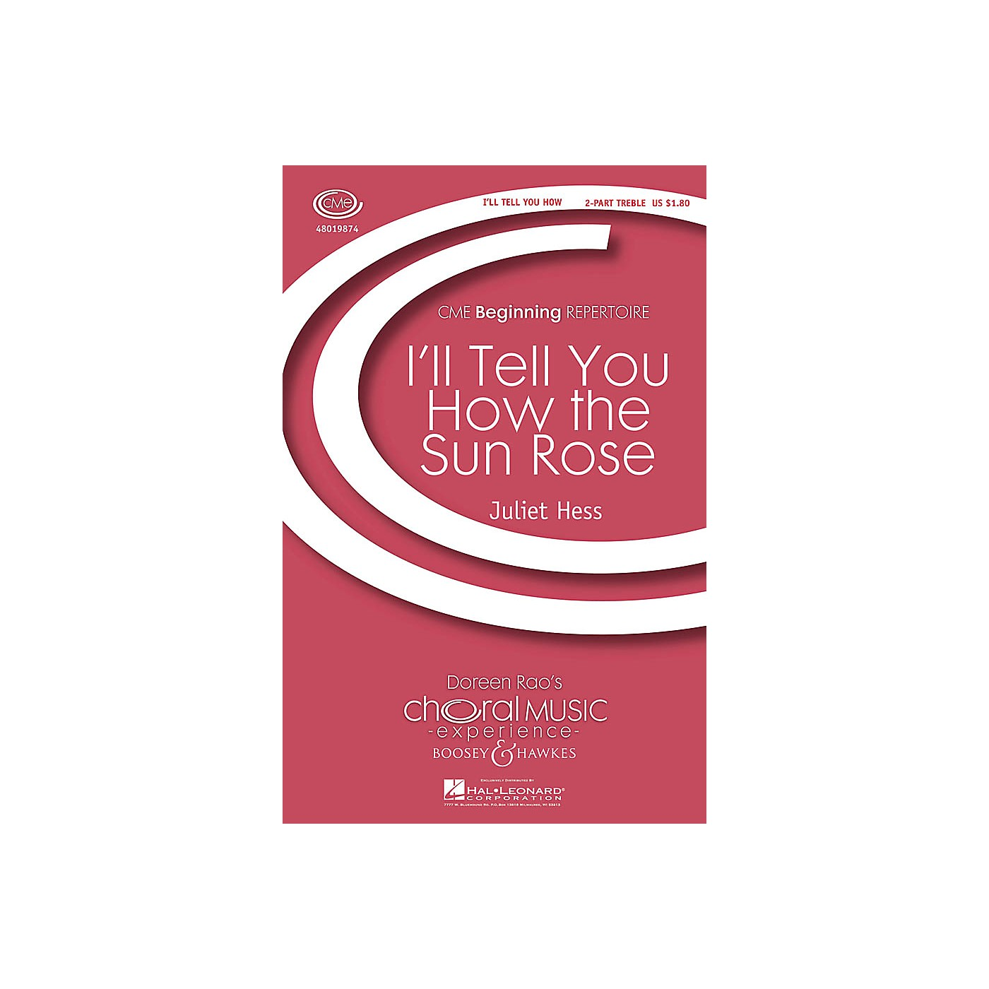 Boosey and Hawkes I'll Tell You How the Sun Rose (CME Beginning) 2-Part composed by Juliet Hess thumbnail