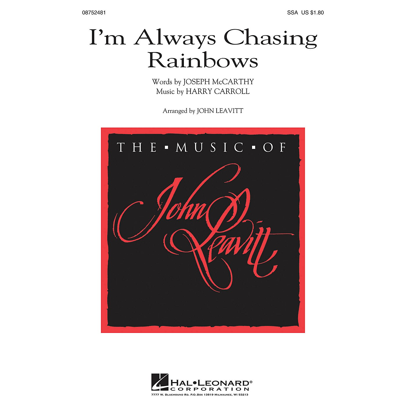 Hal Leonard I'm Always Chasing Rainbows SSA thumbnail