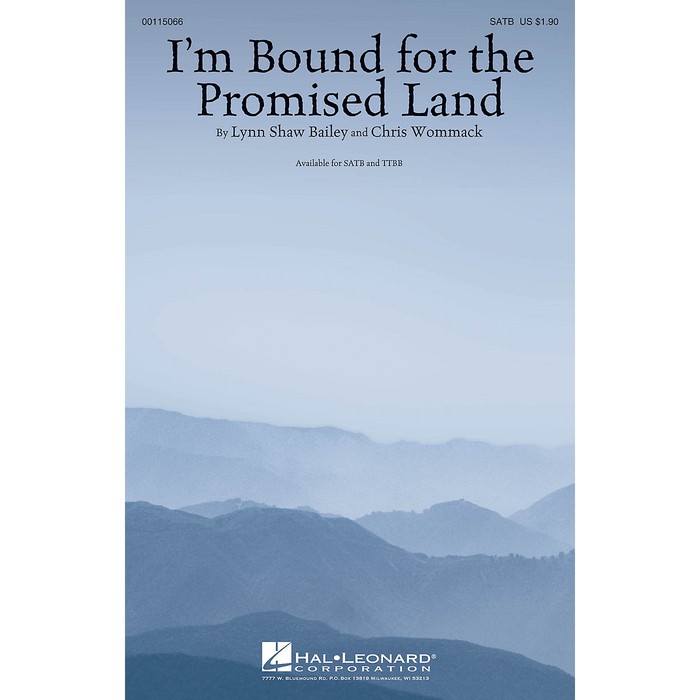 Hal Leonard I'm Bound for the Promised Land TTBB Composed by Lynn Shaw Bailey thumbnail