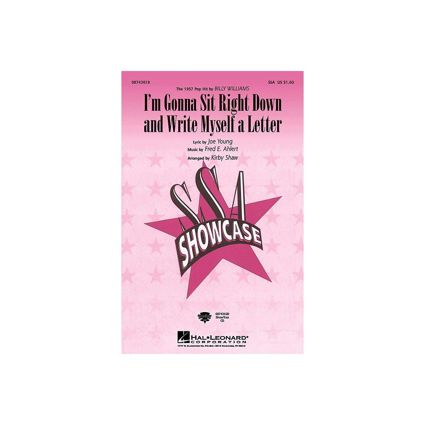 Hal Leonard I'm Gonna Sit Right Down and Write Myself a Letter SSA by Billy Williams arranged by Kirby Shaw thumbnail