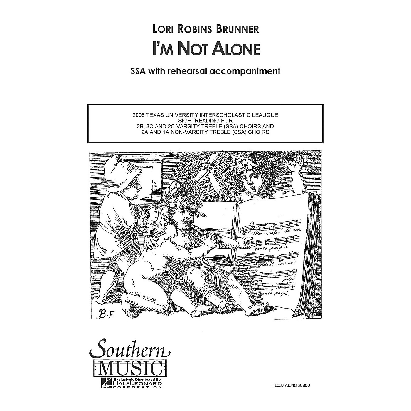 Hal Leonard I'm Not Alone (Choral Music/Octavo Sacred Ssa) SSA Composed by Brunner, Lori Robins thumbnail