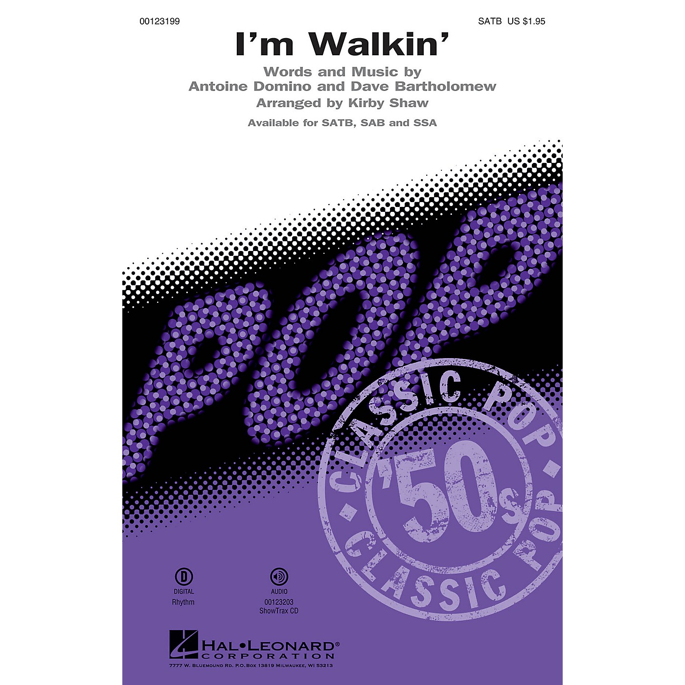 Hal Leonard I'm Walkin' SATB by Fats Domino arranged by Kirby Shaw thumbnail
