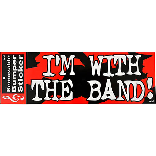 AIM I'm With The Band Bumper Sticker thumbnail