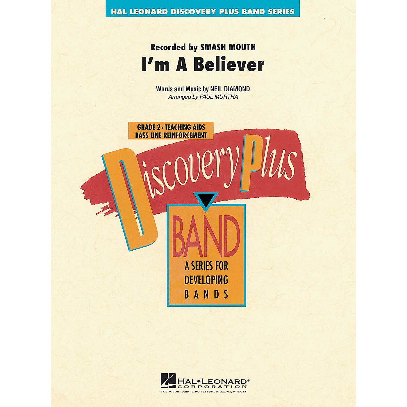 Hal Leonard I'm a Believer - Discovery Plus Concert Band Series Level 2 arranged by Paul Murtha thumbnail
